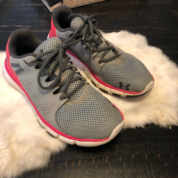 Under Armour Pink Gray Sneakers Size